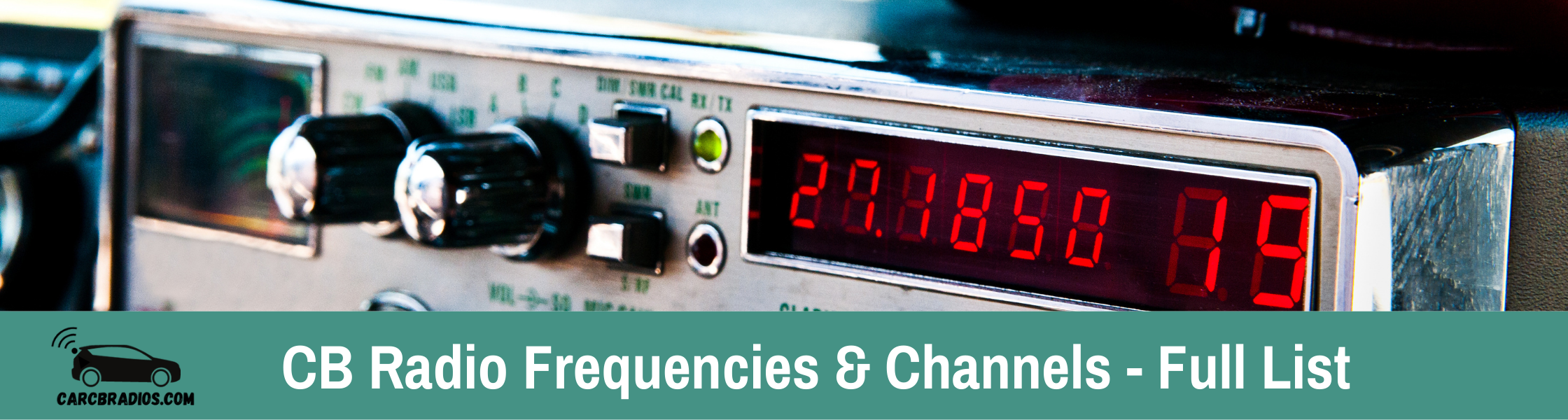 CB Radio has 40 channels with CB radio frequencies ranging from 26.965 to 27.405 MHz. Channels are generally spaced 10 MHz apart. The frequencies are listed in the table below. I have included different sets of channels used by people in various countries around the world.