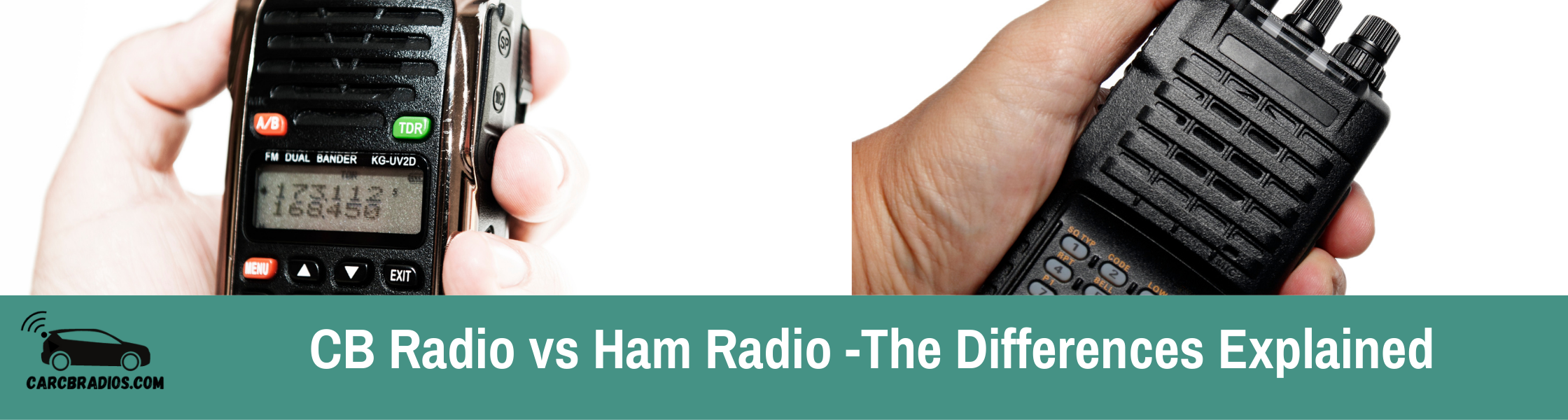 CB Radio vs Ham Radio – Differences Explained: There are two types of radio communication: CB and amateur radio. Although both have the same goal - to allow people to talk from one place to another - they operate on completely different frequencies and have entirely different licensing systems.